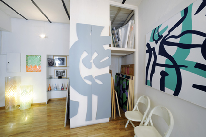Studio di Carla Accardi a Roma
